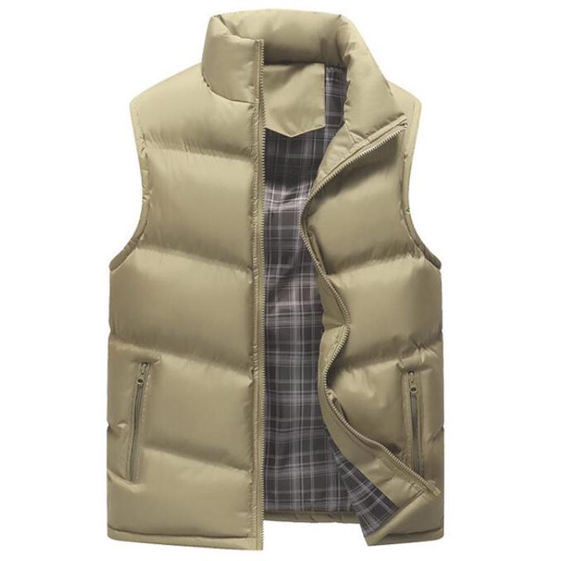 New Fashion Épaissir Gilet chaud Marque Gilet Veste manches Casual Male Outwear coton rembourré Manteau Veste coréenne hommes 4XL