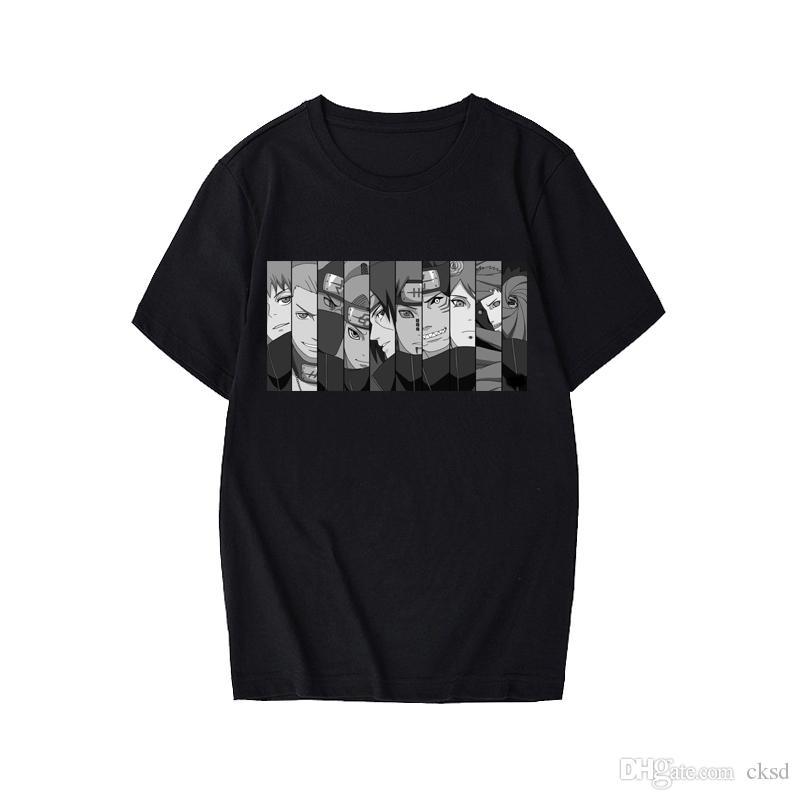Mensentwerfer T-Shirts Naruto Sommer Harajuku kühle Unisex Kurzarm T-Shirt der japanischen Anime lustige Printed Street T-Shirt CX2MC50
