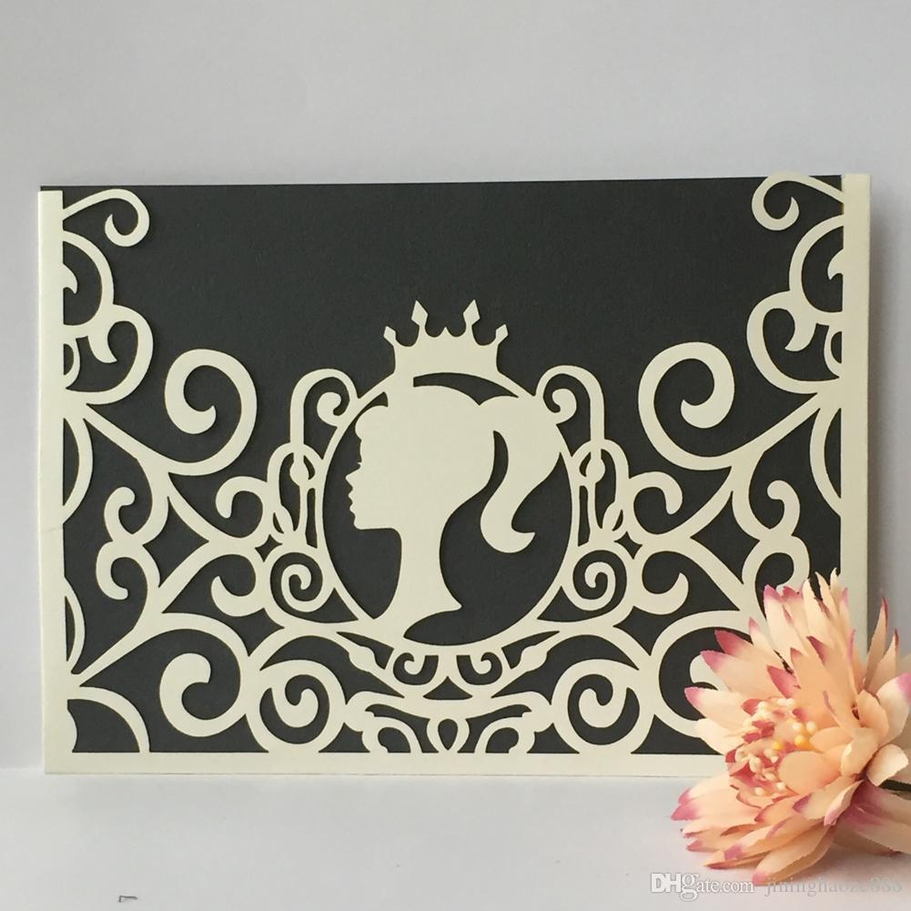 Supplies Day 20Pcs / lot bella principessa Matrimonio Inviti Busta Angel Girl Impegni Matrimonio Cerimonia di San Valentino