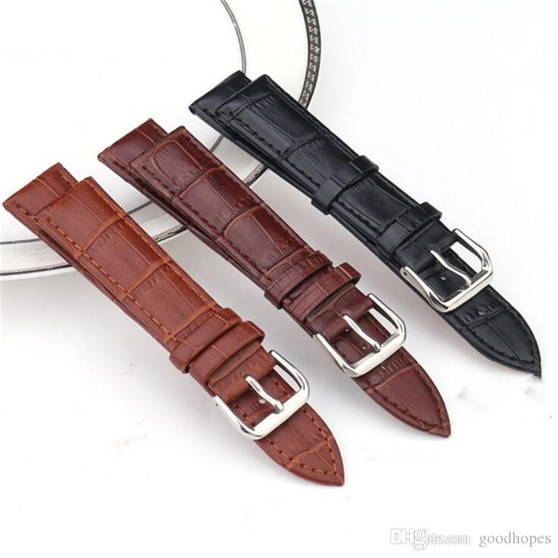 Moda couro genuíno as faixas de relógio de couro Strap pulseira clássico para relógio com fivela de 12 milímetros 14 milímetros 16 milímetros 18 milímetros 20 milímetros 22mm 3 cores