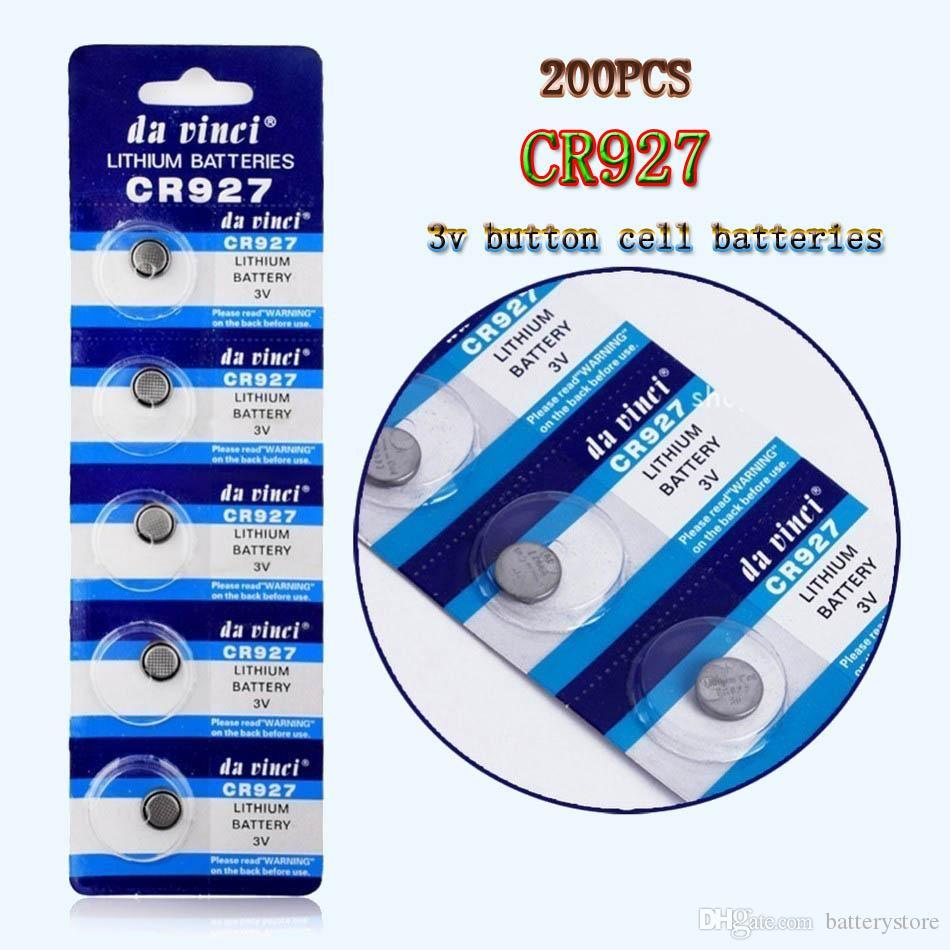 200PCS CR927 3V 35mah بطارية ليثيوم ايون CR927 Dl927 Ecr927 5011l Br927 Lm927 5011lc Kcr927 ووتش بطارية CR927 بطاريات الخلايا زر