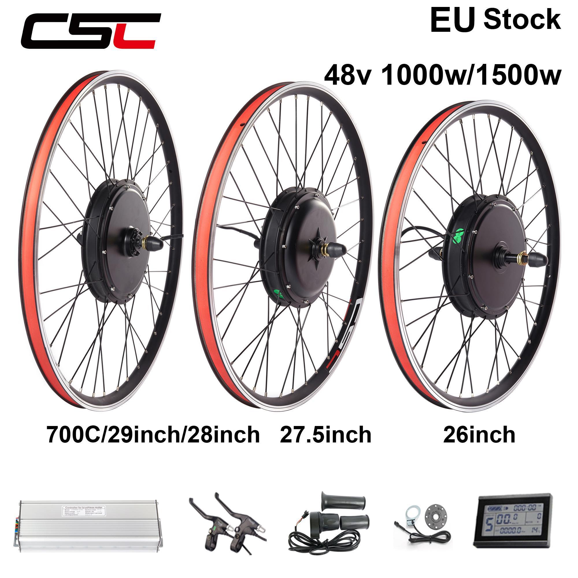 "48V 1000W E Bike Motor Conversion Hub  27.5/"" 28/"" 29/"" 700C Motor Hub"