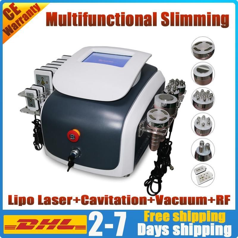 6in1 cavitación piel pérdida de peso la reducción de grasa de adelgazamiento vacío láser rf apriete equipos de salón de radio frecuencia de ultrasonido delgado