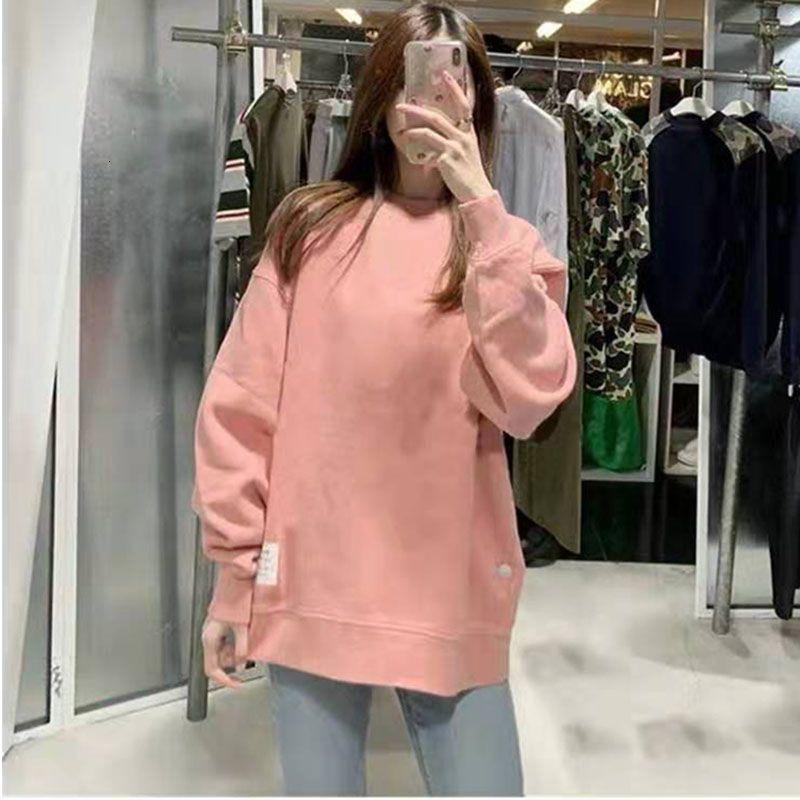 sweat-shirt d'automne d'hiver femmes manches longues unisexe O top Pull à encolure plus des vêtements velours CJ1911108
