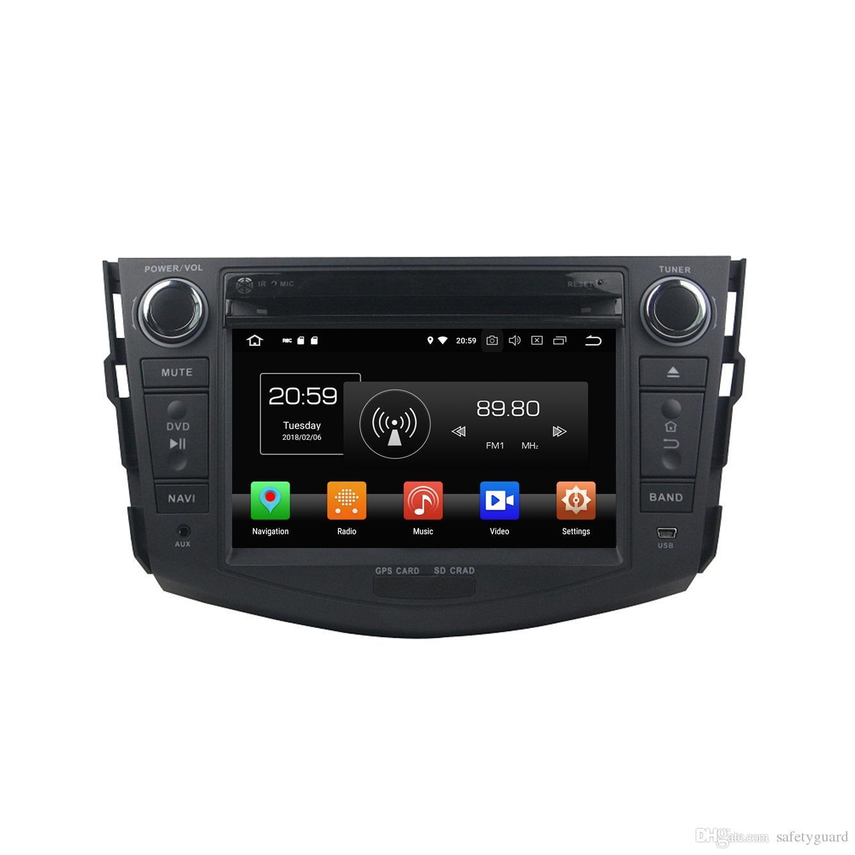 "4GB RAM 64GB ROM Android 8.0 Octa Core 2 din 7"" Car DVD Radio GPS for Toyota RAV4 2006 2007 2008 2009 2010 2011 2012 Bluetooth WIFI USB"