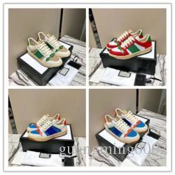 2020 neue bester Qualität Designer-Schuhe Mann Tiger Biene blau rote Streifen Distressed Luxusschuhe echtes Leder Mode ace Sneaker für Frauen L069