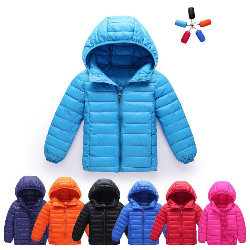 Enfants légère veste vers le bas les vêtements en coton rembourré hommes et femmes enfants enfants manteau à capuchon Childrenswear bébé coton-pad