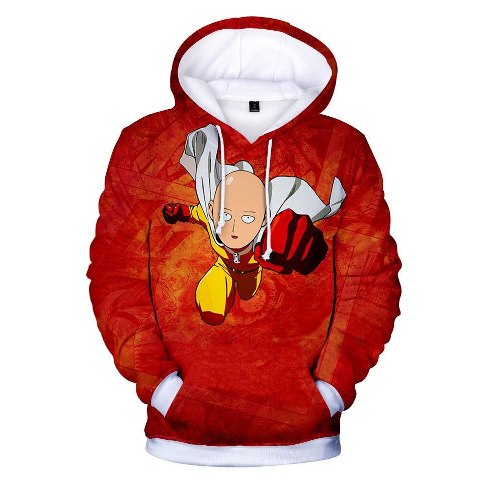 Anime One Punch hombre de dibujos animados de impresión divertido 3d sudaderas con capucha jerseys mujeres de los hombres con capucha casual de manga larga con capucha sudaderas tops ropa