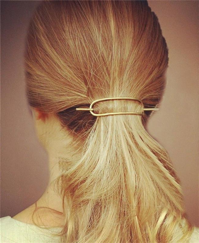 Women Hair Accessories Simple Design Geometric Oval Hairpins Hair Stick Fork 2H4003