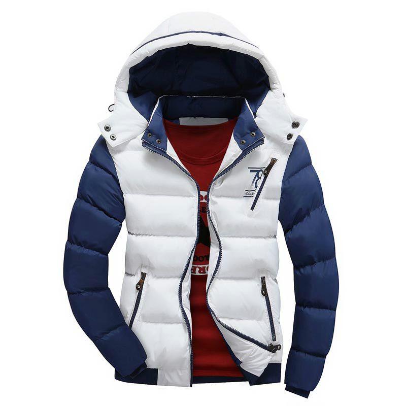 2017 패션 초경량 봄 겨울 따뜻한 자켓 남성 코튼 브랜드 의류 두꺼운 지퍼 슬림 남성 자켓 Parkas Designer Fit