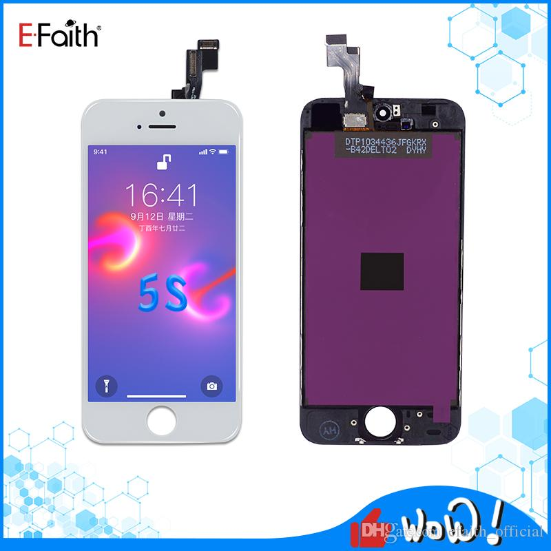 EFaith Tianma LCD Screen For iPhone 5G/5C/5S/5SE Touch Screen Digitizer Assembly Display with Free DHL Shipping