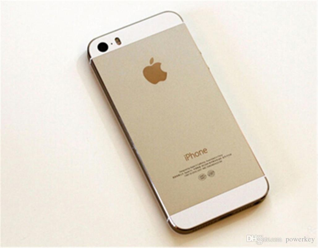 """Apple iPhone 5S de bonne qualité sans empreinte digitale 64 Go 32 Go 16 Go iOS 8 4.0 """"IPS HD A7 8MP remis à neuf téléphone mobile débloqué"""