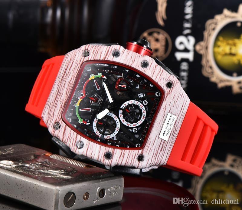 Orologi orologi di lusso vigilanza di scheletro del quarzo cronometro big bang di lusso del Mens hommes Monterey uomini OROLOGIO