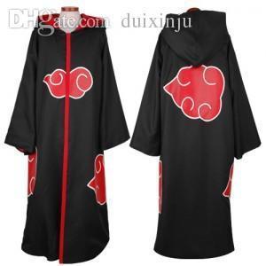 Großhandels-Männer / Frauen Großhandel naruto Kostüm sasuke uchiha cosplay itachi Kleidung hot anime Akatsuki Mantel Cosplay Größe S-2XL