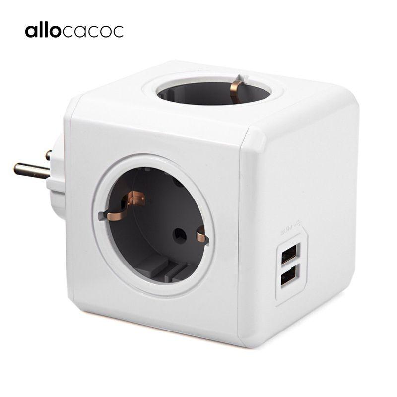 ccessori parti elettriche Socket Spine Adattatori Allocacoc Power Strip PowerCube USB Presa della spina Multi Smart Plug extensi ...