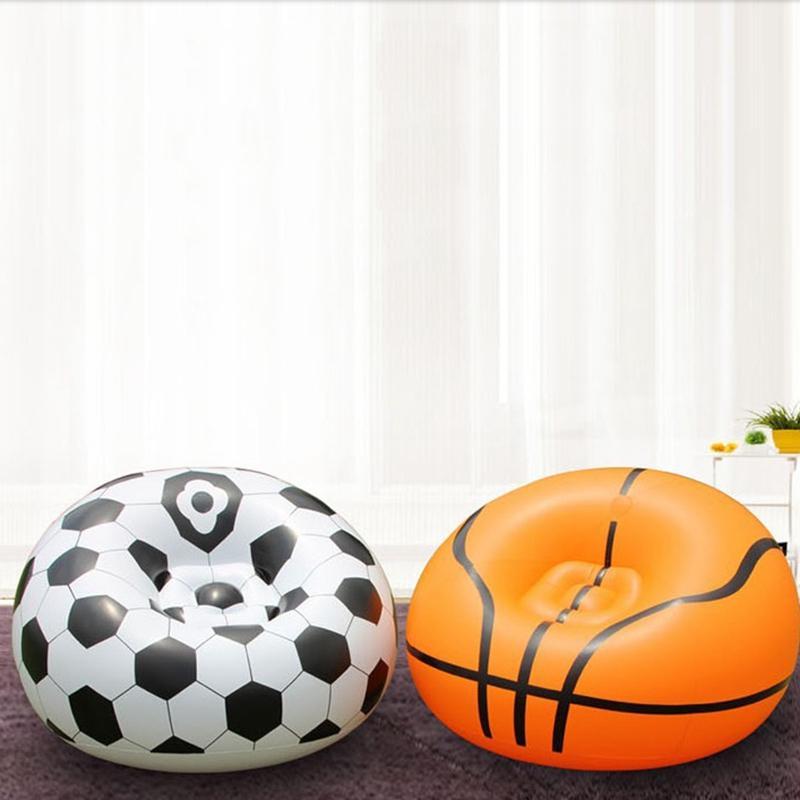 Inflatable Lazy Football Basketball Sofa Outdoor Activities Single Sofa