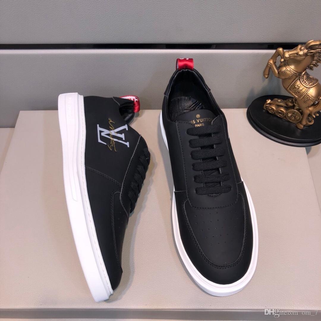 2020i новый высококачественный футляр из натуральной кожи мужские низким верхом повседневная обувь, модные дикие дышащие кроссовки на открытом воздухе шнурках кроссовки