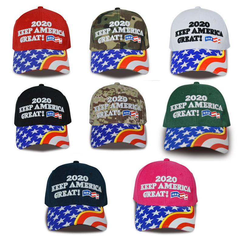 Trump 2020 Baseball Cap Make America Great Again 2020 Election Hat Embroidery Letter Embroidery Flag Hats Travel Beach Sun Visors TTA1732