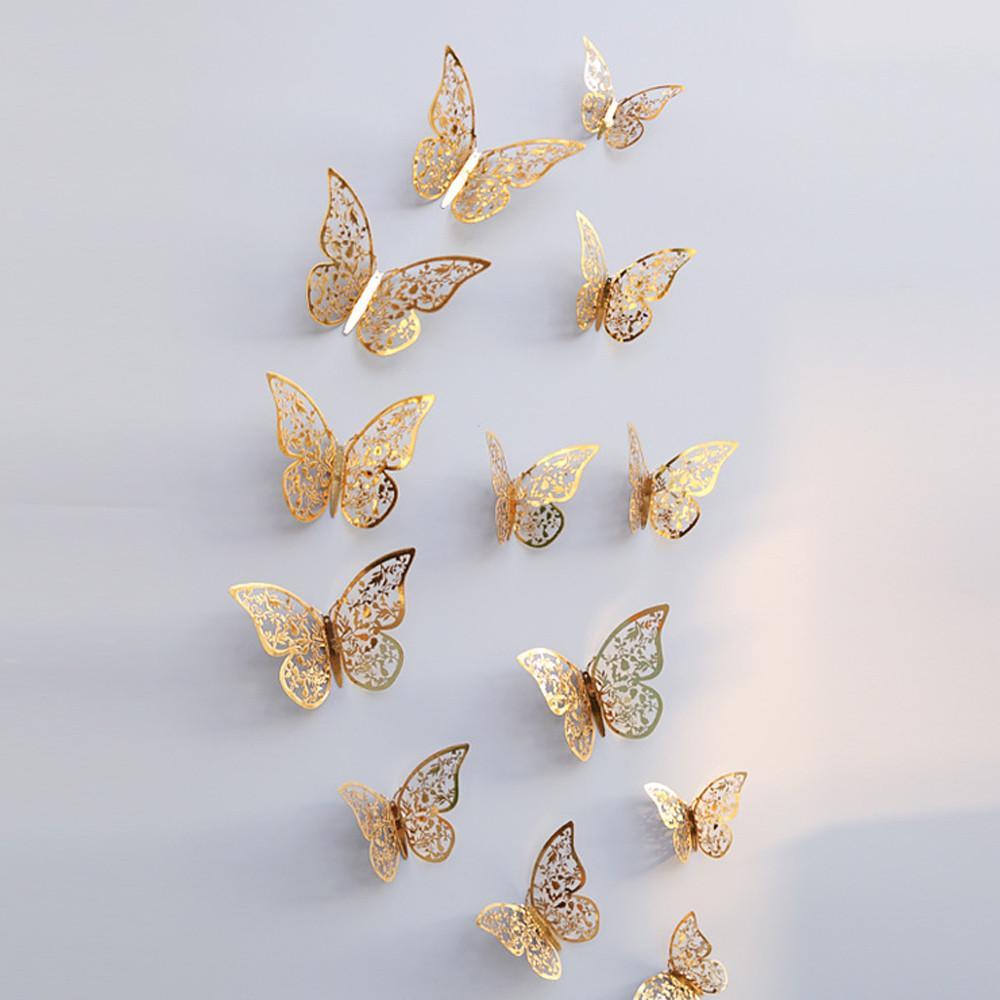 Farfalle Decorative Fai Da Te acquista qifu decorazione di cerimonia nuziale farfalle decorative adesivi  murali 3d bambini fai da te forniture artigianali baby shower party decor a