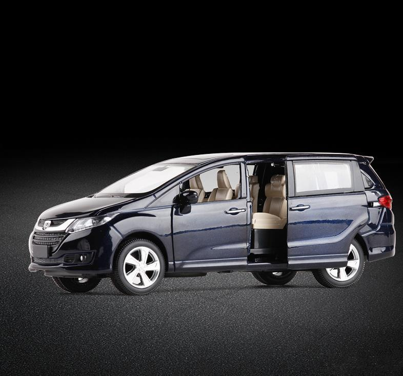 Simulação de alta Honda Odyssey, 1: 32 escala modelo de carro puxar liga de volta, veículos de brinquedo de metal fundido 6 portas abertas, Y200109 frete grátis