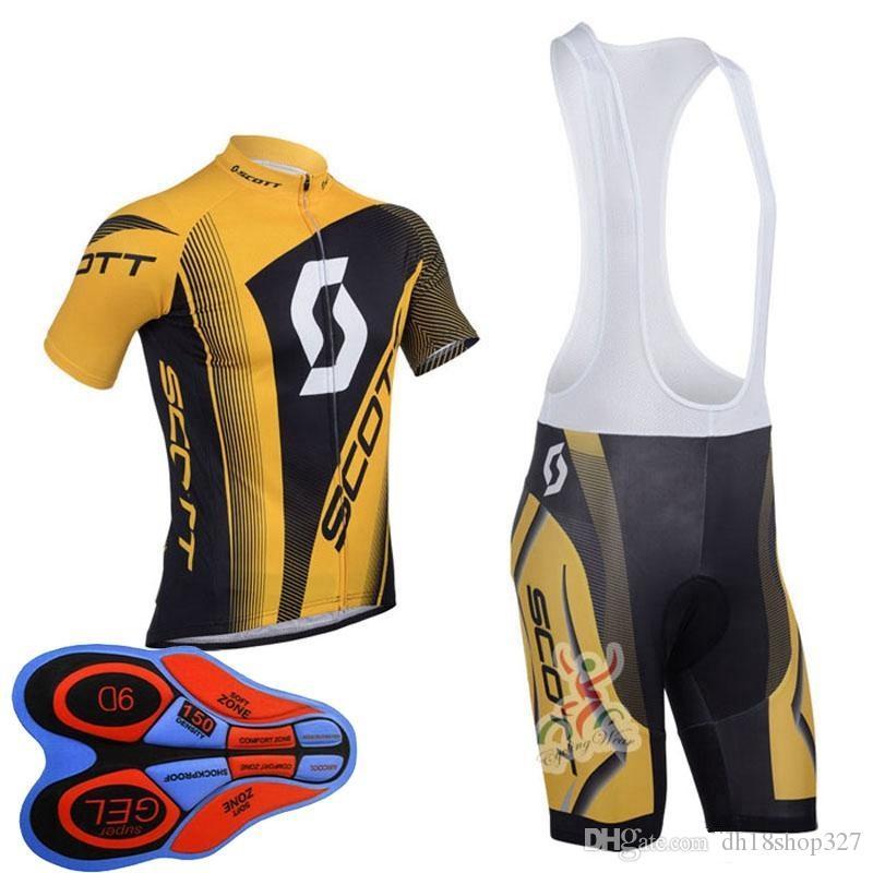 반바지 균일 A304561 도로 자전거 마모 레이싱 의류 스포츠를 설정 턱받이 저지 남성 속건 자전거 셔츠 9D을 껐다 2019 새로운 SCOTT 여름