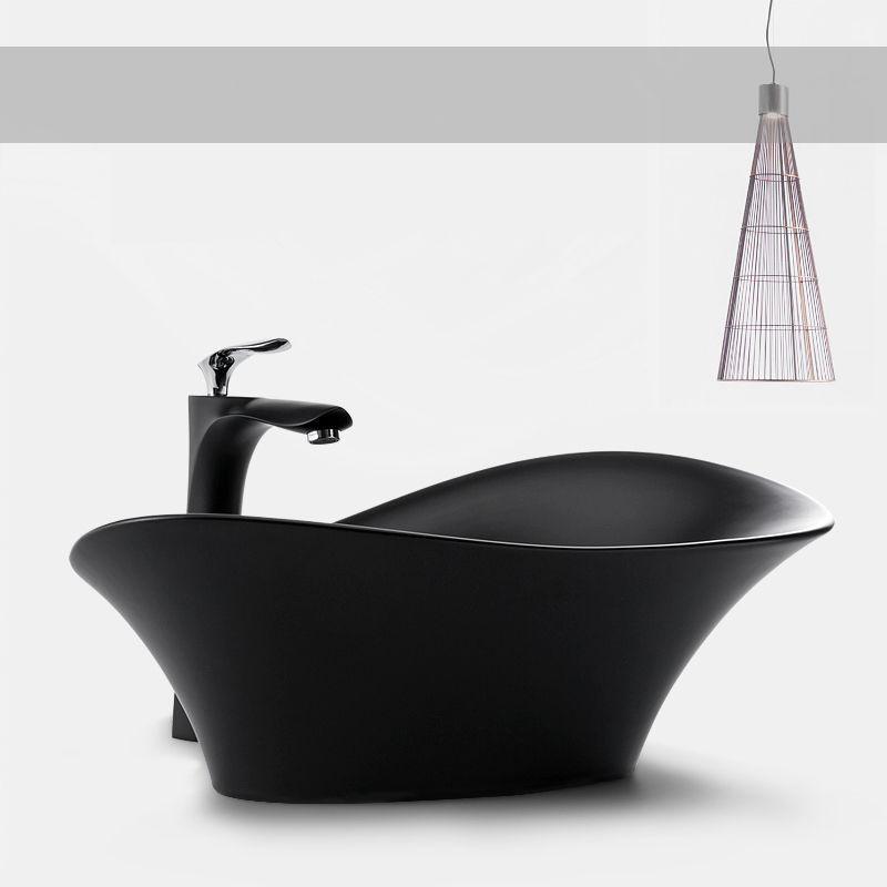 الحمام الفن المصارف مصمم حوض الحديثة سفينة السيراميك غسل السلطانية أسود أبيض مرحاض غرقت وهجرة لينة خرطوم