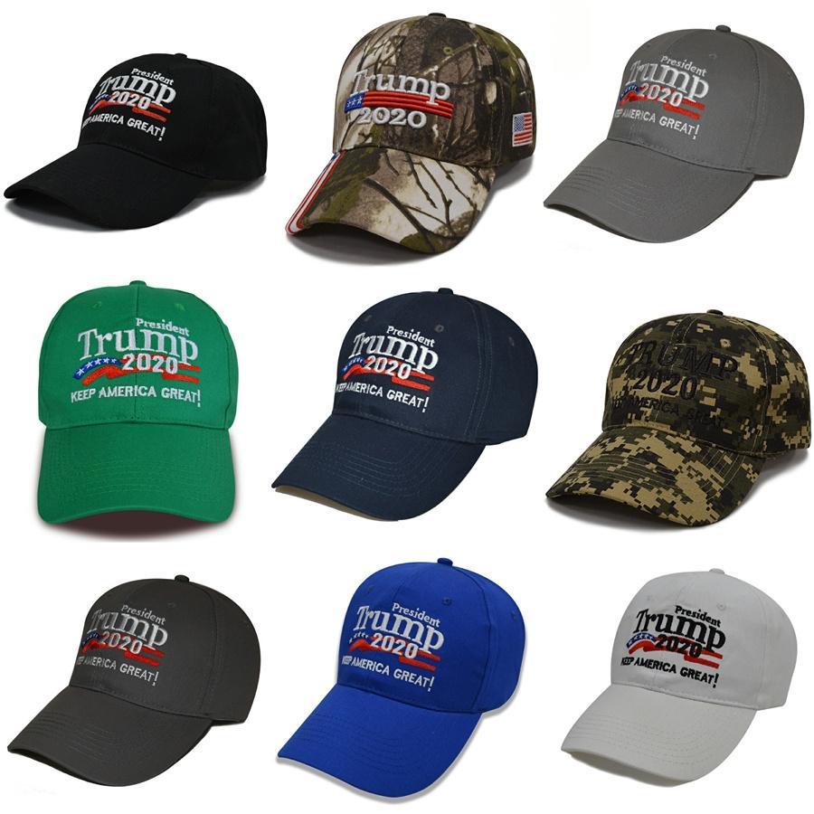 100% cotone Berretto da baseball 2020 Cappelli Donald Trump compaign 2020 repubblicano Compaign la visiera di Sun cappello della benna mantenere l'America del grande Ha Women # 19