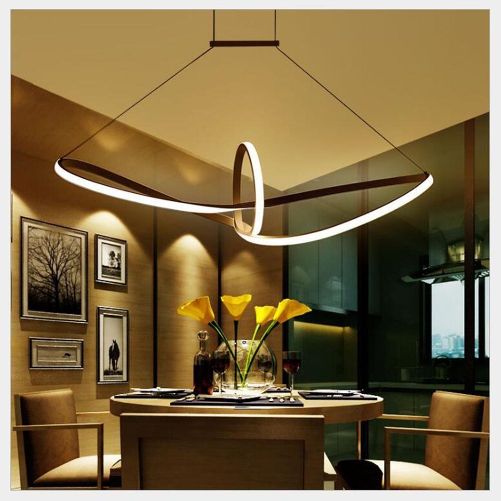 FULOC Nuovo e moderno lampadario led per soggiorno camera da letto pranzo corpo in alluminio stanza della casa della lampada lampadario coperta apparecchio di illuminazione 110V 220V