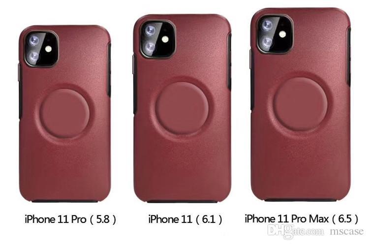 Für iphone11 Rüstung TPU mit PC Pop Abdeckungs-Fall für iphone 6 7 8 Plus XR XS 11 PRO Max Samsung Cover-Beutel-Halter