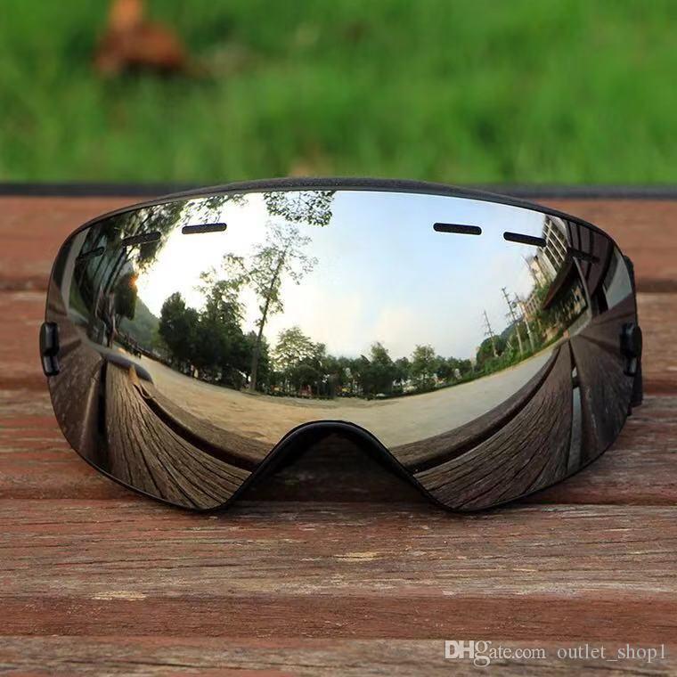 Camadas Professional Homens Mulheres Óculos de Esqui Óculos de Casal UV400 Anti-fog Big Ski máscara de esqui óculos de neve Snowboard Goggles