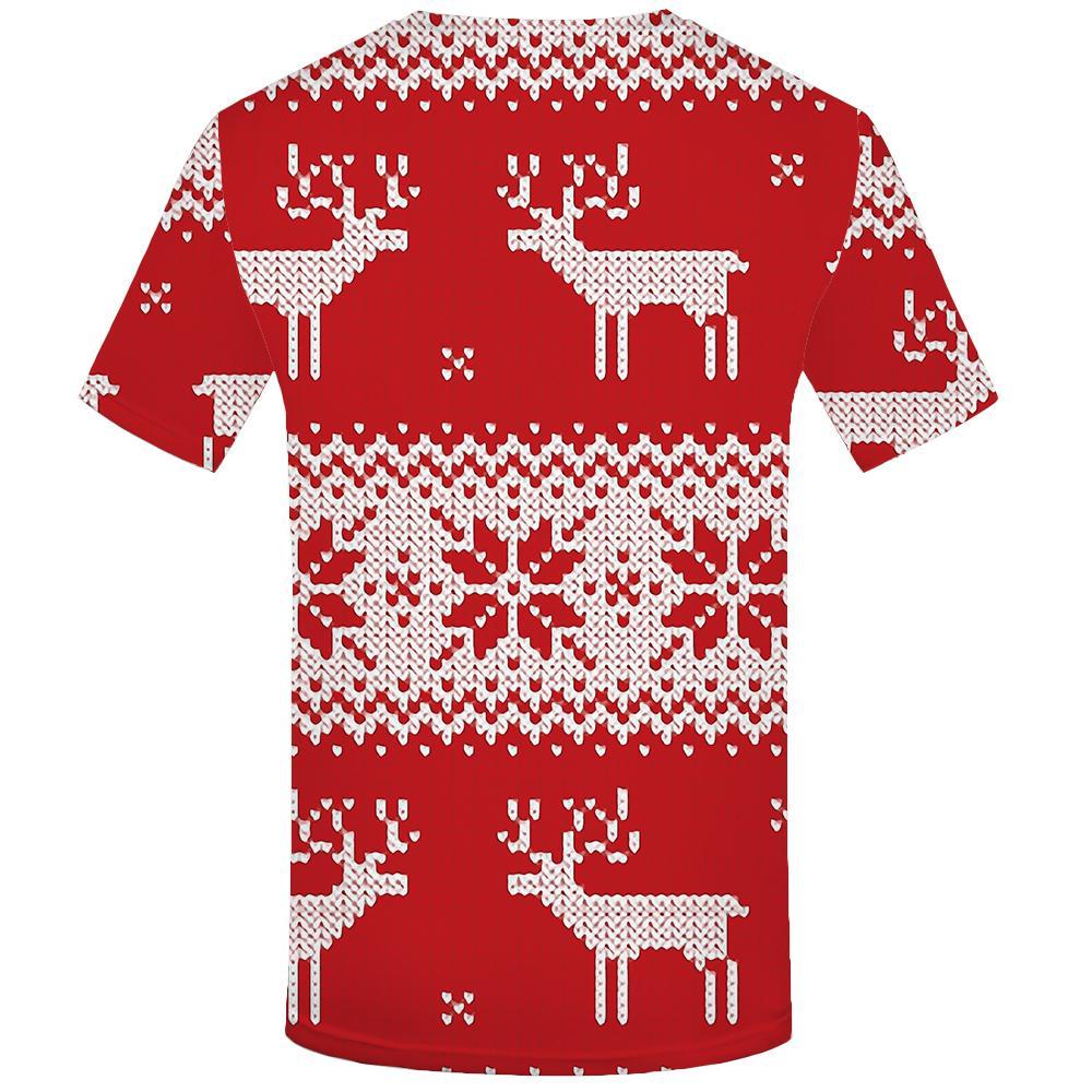 3д футболка елка футболка мужская Рождество футболка Мужские футболки Яблоко повседневная красная футболка 3D с футболки печатных Мужская одежда