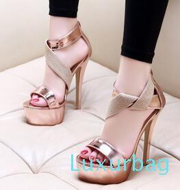 Новые модные женские летние сексуальные водонепроницаемые сандалии на толстой подошве с открытым носком на тонком каблуке