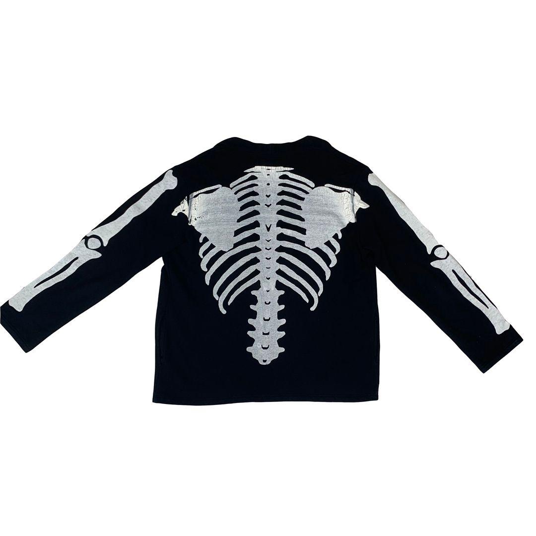 Brasão Mens Casacos Moda High Street OSSO Bones Robe Cardigan esqueleto costelas Impressão Casual Outwear