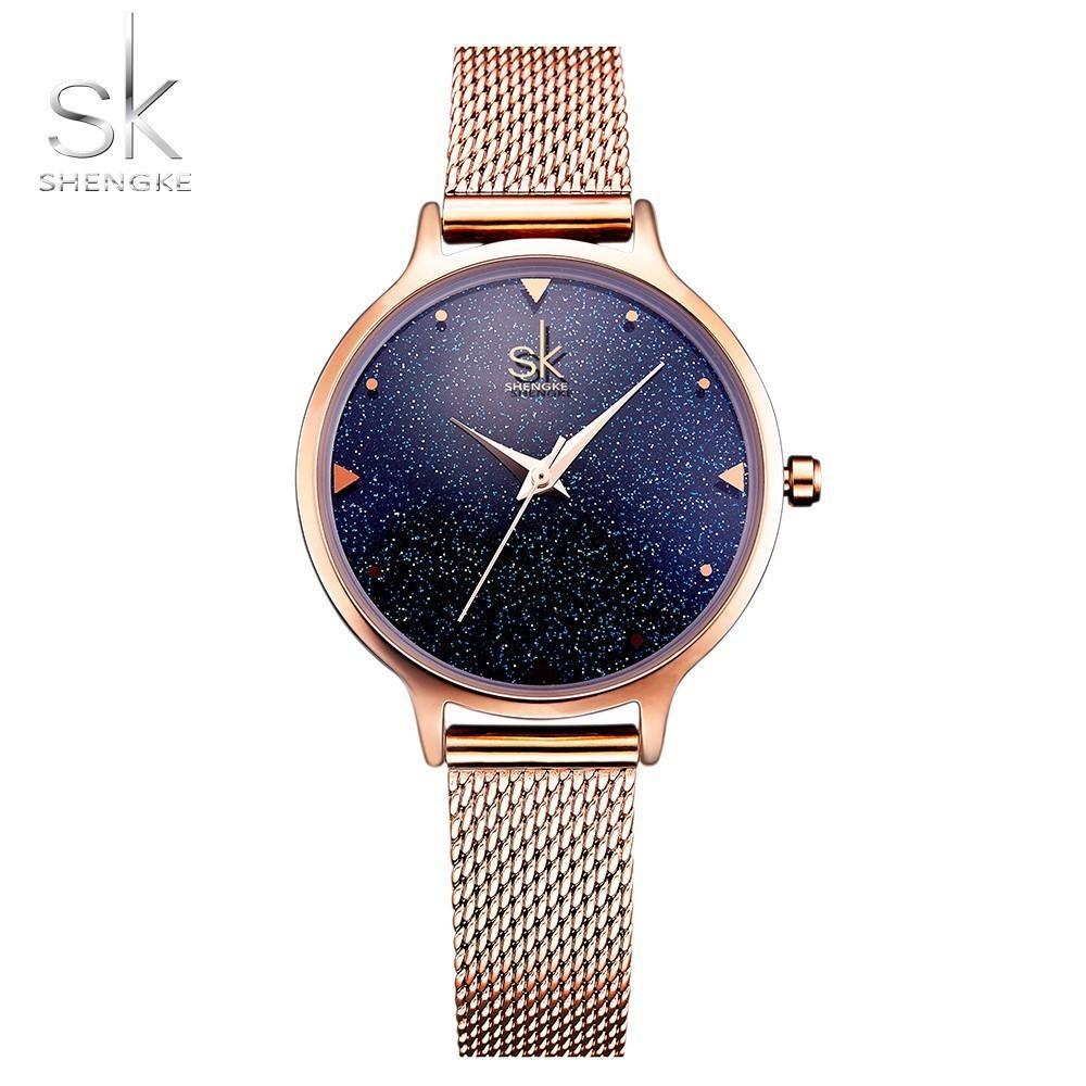 Shengke moda elegante quarzo donne orologio in oro rosa donne orologio da polso nuovo signore di lusso di marca relogio feminino reloj mujer y19052001