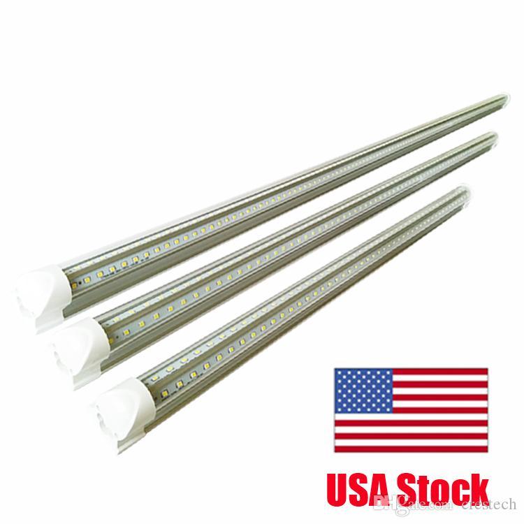 T8 5 Feet V Shaped 4ft 5ft 6ft 8ft 7200 Lumen Tube Integrated LED Tubes Light Replace Fluorescent Light AC85-265V