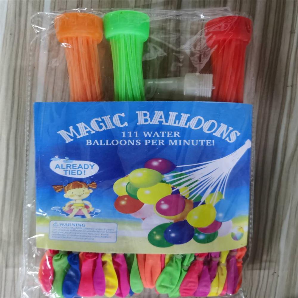 Вода шары 1Pcs = 111balloon Красочные воды заполнены шар букет шаров Удивительные Магические бомбы игрушки наполнения воды Баллоны Игры игрушки Q19