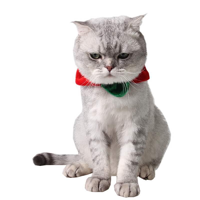 크리스마스 애완 동물 개 두건 스카프 작은 개 고양이 목걸이 턱받이 스카프 할로윈 파티 강아지 애완 동물 미용 의상 액세서리