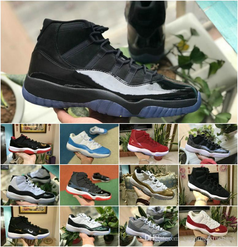 2019 Nuovo Concord 45 11s scarpe da basket degli uomini del serpente Navy Low Light Bone Rosa Platinum Tint Space Jam 11 Designer Neutral Olive Sport Trainer