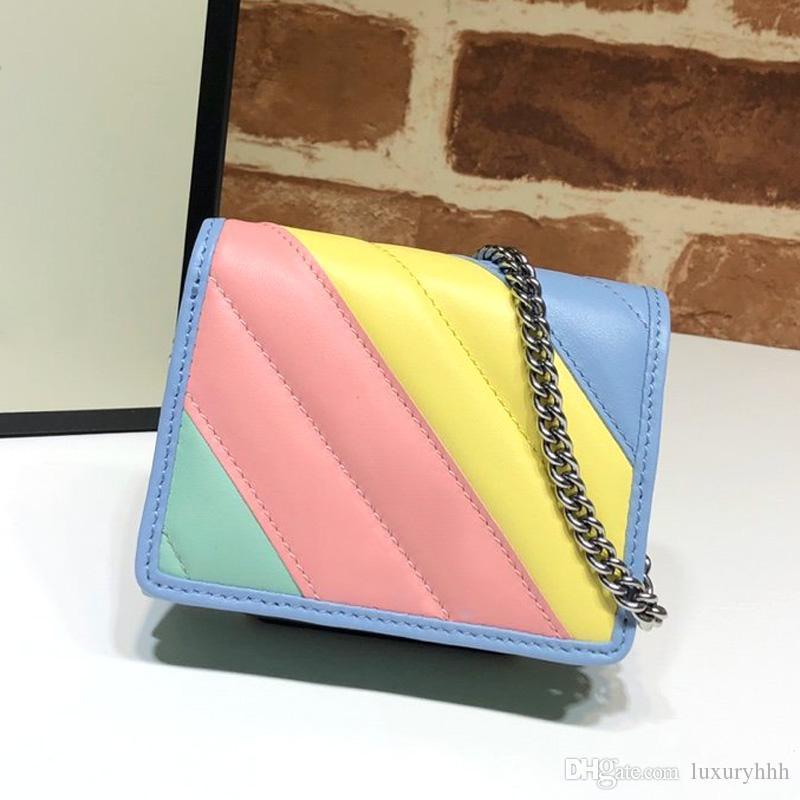 monederos cartera carteras bolsos del diseñador bolsos de cuero real de las mujeres de la moda bolso bolsa de diseñador de moda famosa cadena de marca de lujo 2020 de calidad superior