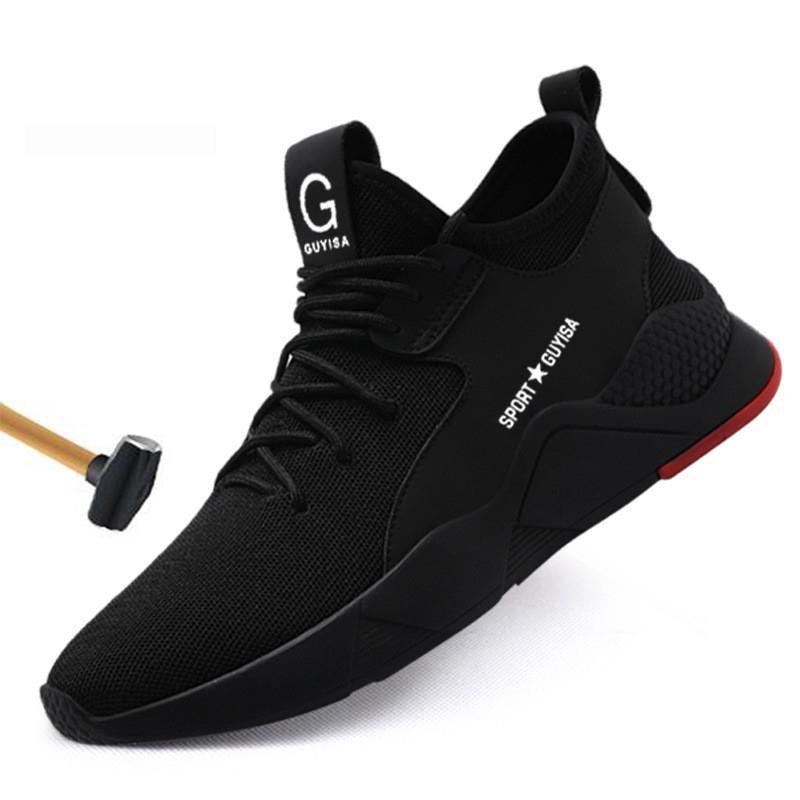 Toe Scarpe di sicurezza lavoro degli uomini delle scarpe da tennis all'aperto acciaio Scarpe Uomo Uomo di combattimento militare Stivaletti Anti-smashing lavoro stivali di sicurezza