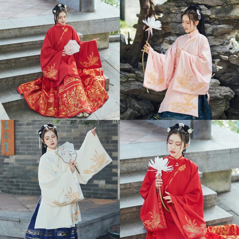 2020 Nouvel An chinois fée femmes Hanfu Costumes de danse Robe ancienne danse folklorique broderie robe de mariée 2 Piece Cosplay Vêtements