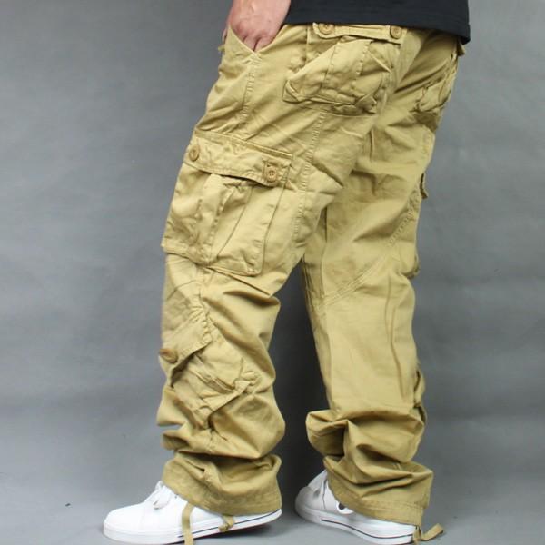 Mode Tasche Cargo Pants Männer Lose Beiläufige Hose Herren Trainingsanzug Bottoms Outdoor Taktische Jogger Streetwear Mann Kleidung Plus Größe 46