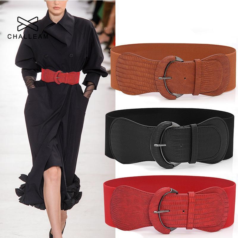 여성 드레스 코트 패션 탄성 디자이너 높은 품질 검은 색 플러스 사이즈 허리띠 366 와이드 벨트 큰 커머 번드 코르셋 벨트