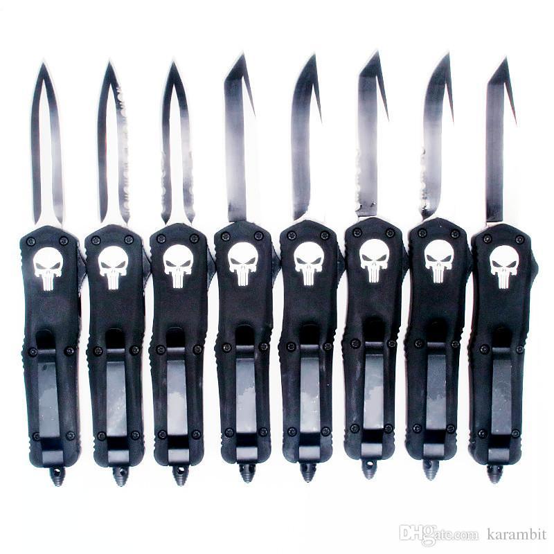 Combat Samll A07 7inch череп двойного действия тактического самозащитой автоматический автоматический складной нож EDC кемпинга нож охотничьи ножи подарок Xmas