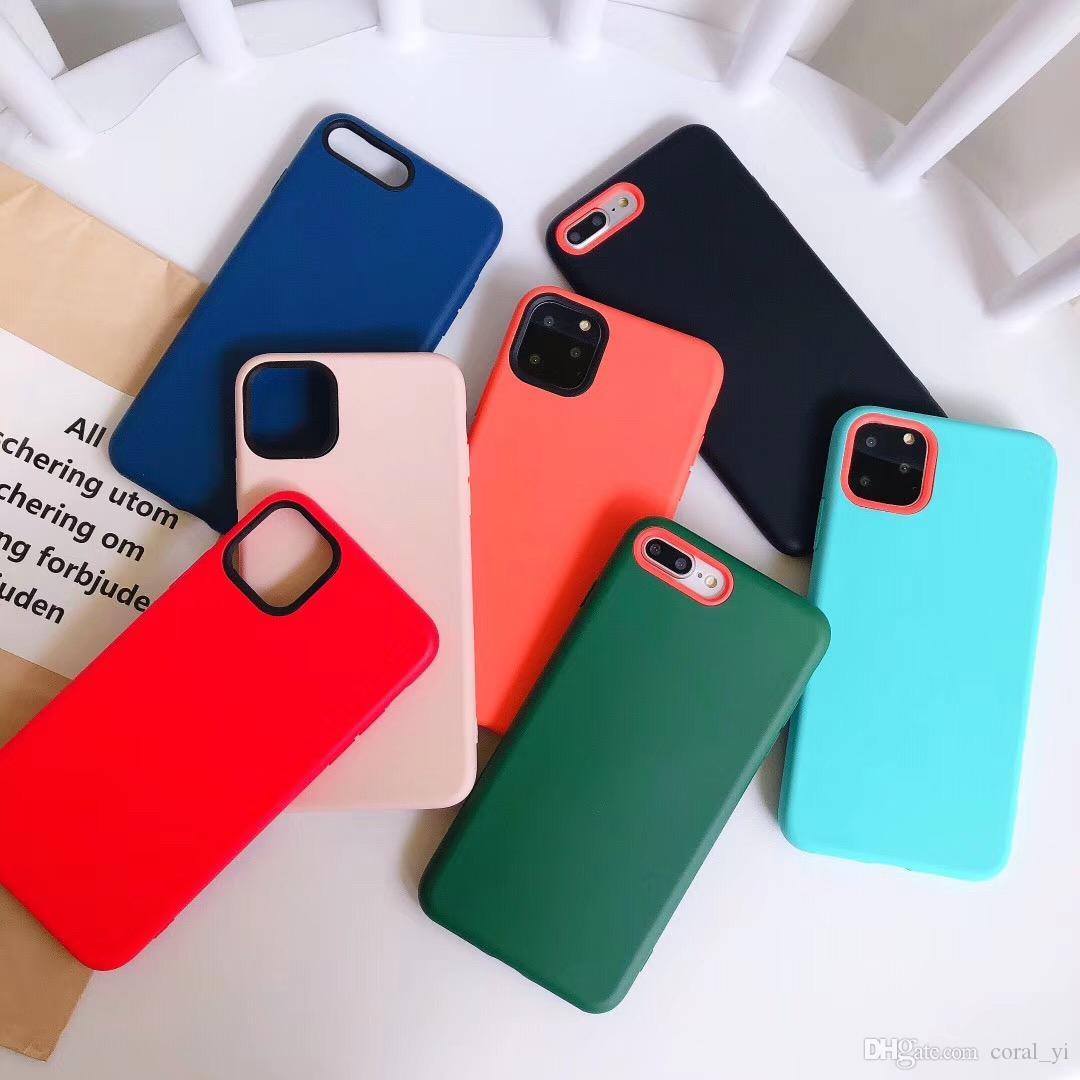 Мода чистый цвет сплошной силиконовый чехол для iPhone 11 Pro Max Мягкая защитная крышка ТПУ для iphone 6 6s 7 8 XS XR