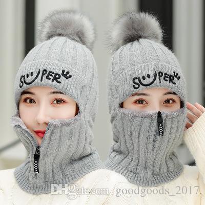 Ciclo al aire libre de punto de lana de Beanie sombrero Sombreros de invierno caliente espesa el sombrero de invierno para mujer de la muchacha hermosa de punto Beanie Caps KK700