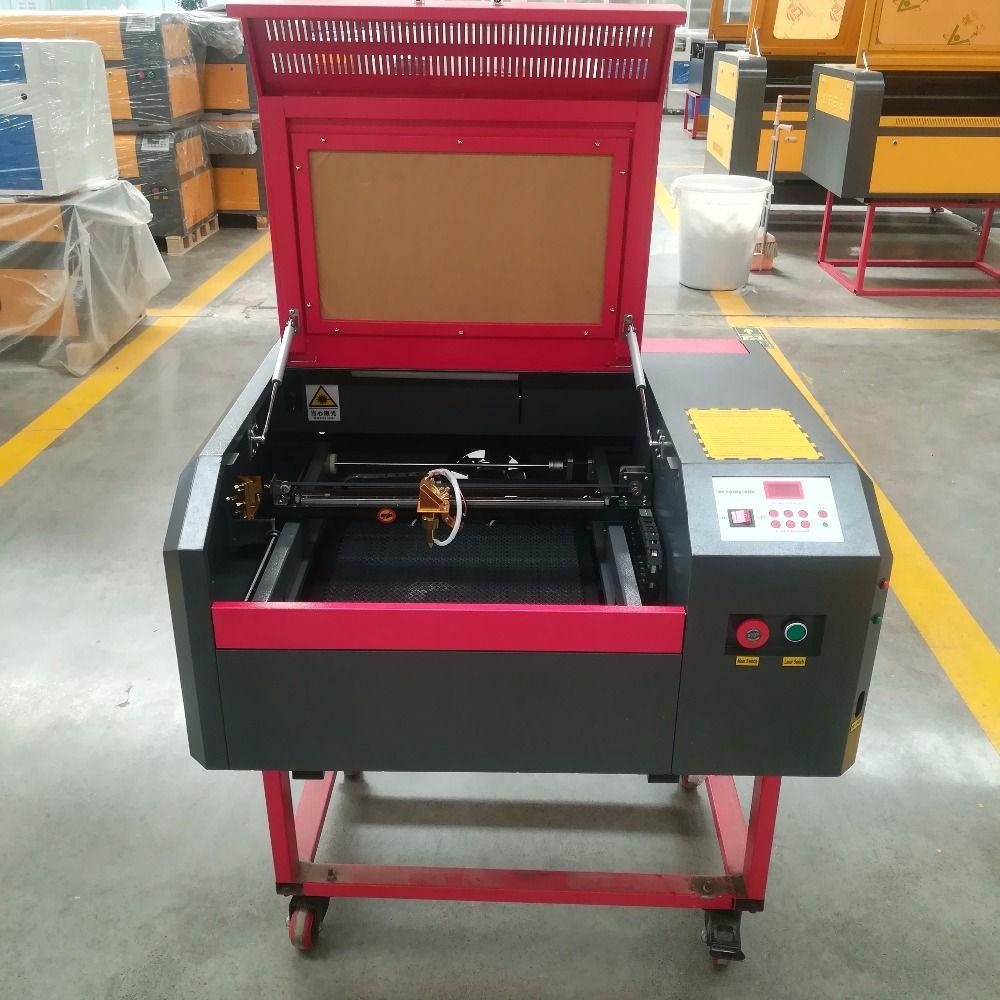 50W 400X400MM 440 laser engraving machine, 4040 laser cutting machine with auto up and down platform