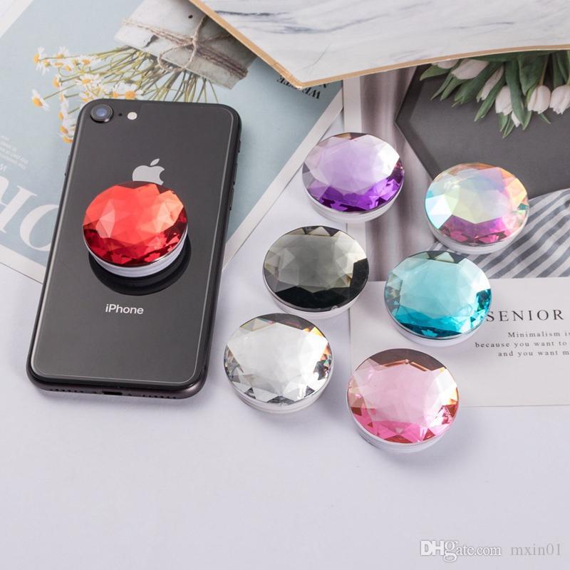 유니버설 3 메터 접착제 그립 크리스탈 다이아몬드 에어백 브라켓 스탠드 홀더 아이폰 2019 XS Max XR 8 7 플러스 삼성 S10 참고 9 10 프로 핸드폰