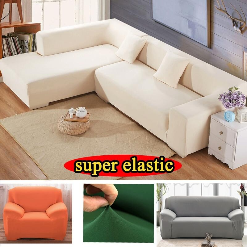 Corner Elastic Sofa Cover Fabric Stretch Cushions Universal Armchair  Furniture Covers Elastic Case On Corner Sofa Cover Sofa Slipcovers Couch ...