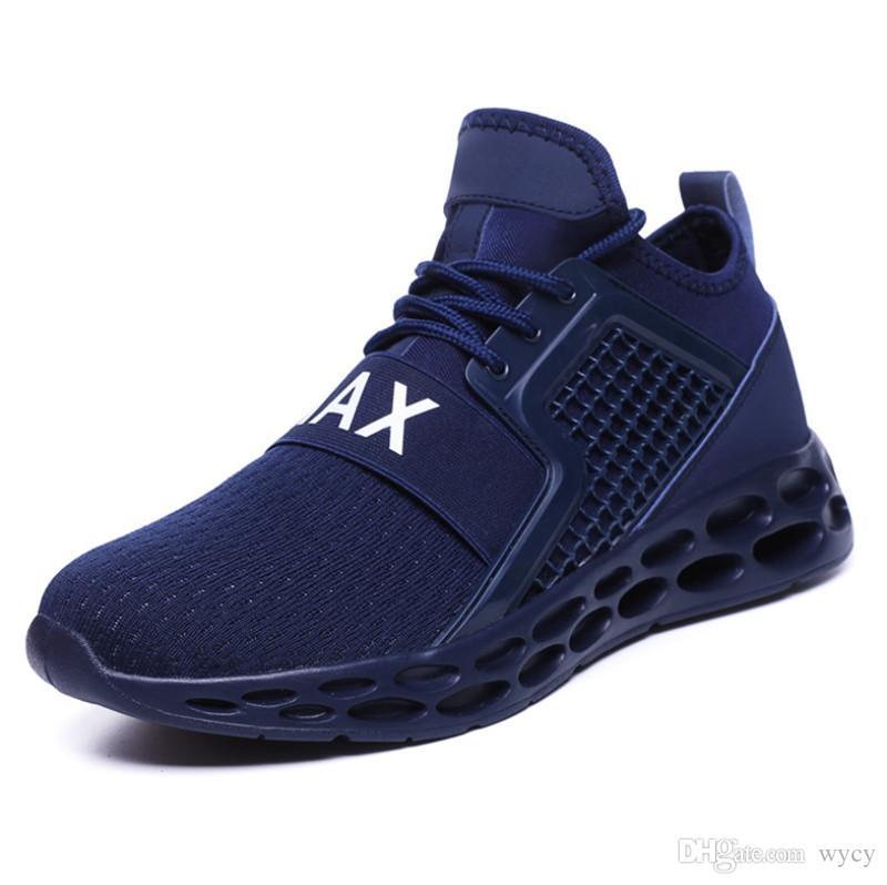 2019 도매 야생 통기성 패션 디자이너 신발 스니커즈 블랙 레드 블루 스니커즈 남자의 경량 S- 신발